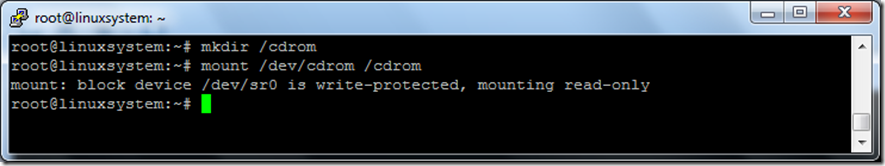 use mount cdrom in Linux