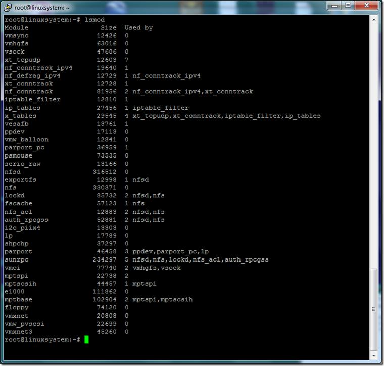 Linux lsmod