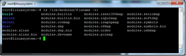 list of connected modules in Linux