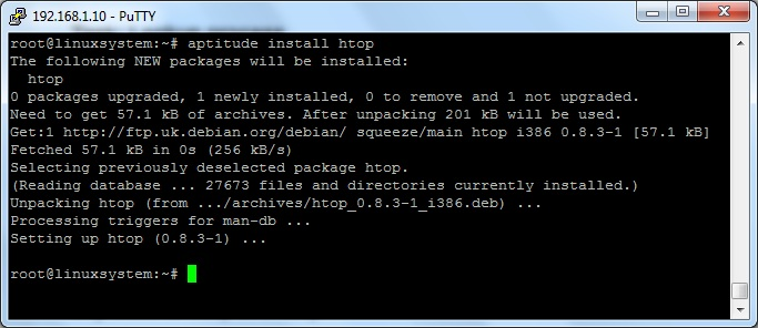 installation of htop