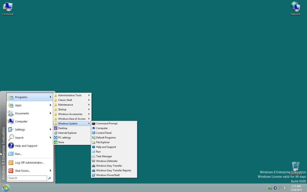 Windows 8 start button back